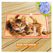 Rug Hooking Kit 2 Kittens