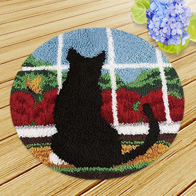 Cat at Window Rug Hooking Kit