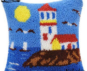Latch Hooking Pillow Kit - Lighthouse