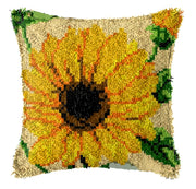 Latch Hooking Pillow Kit - Sunflower