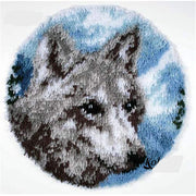Wolf Latch Hook Rug Kit