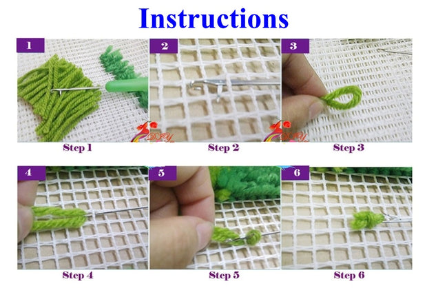 Dream House Rug Latch Hooking Kit