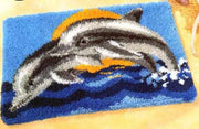 Dolphins Rug Latch Hooking Kit