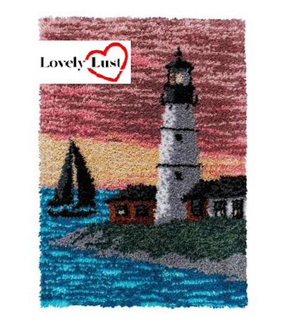Lighthouse Landscape Rug Latch Hooking Kits