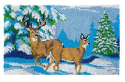 Mountain Deer Rug Latch Hooking Kit (85x58cm)