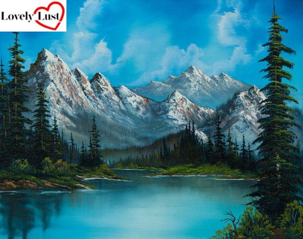 Mountains Landscape Diamond Painting