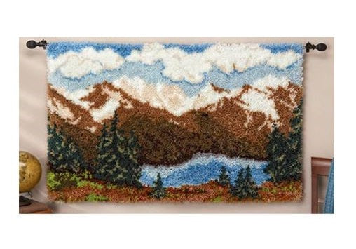 Mountains Rug Latch Hooking Kit