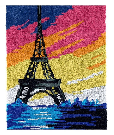 Paris Sunset Rug Latch Hooking (58x87cm)