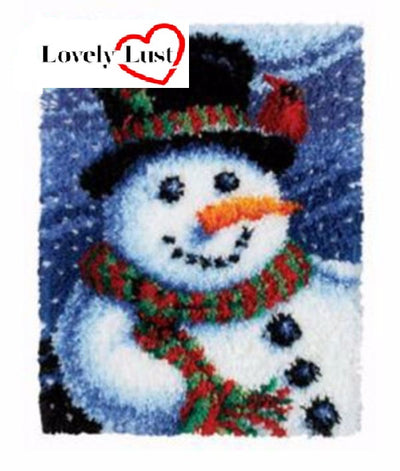 Christmas Snowman Rug Latch Hooking kit