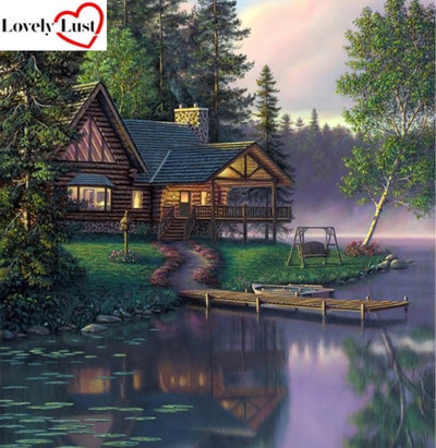 Stunning Cottage Diamond Painting