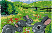 Three Rabbits Rug Latch Hooking Kit (81x61cm)