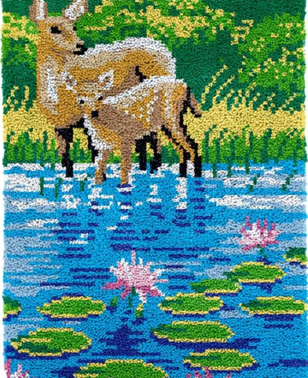 Two Deer River Rug Latch Hooking Kit (58x87cm)