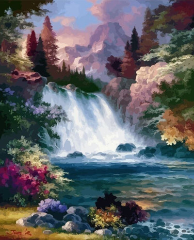 Waterfall Paint by Numbers (40x50cm no frame)