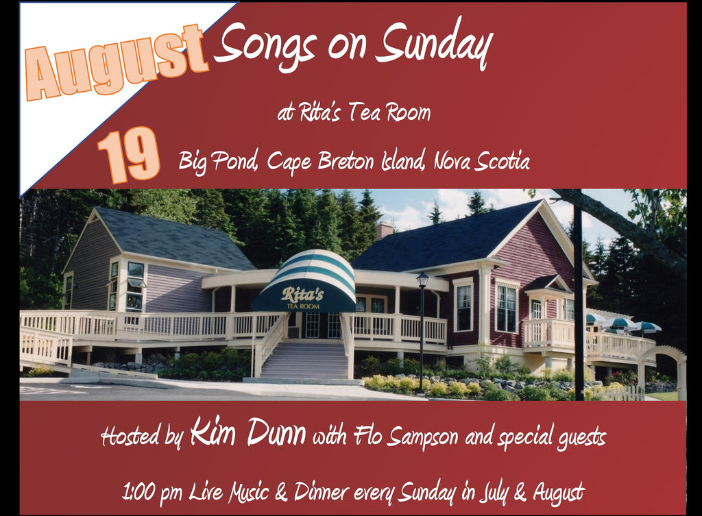 Songs on Sunday  - August 19, 2018 Special Guest Chris Corrigan