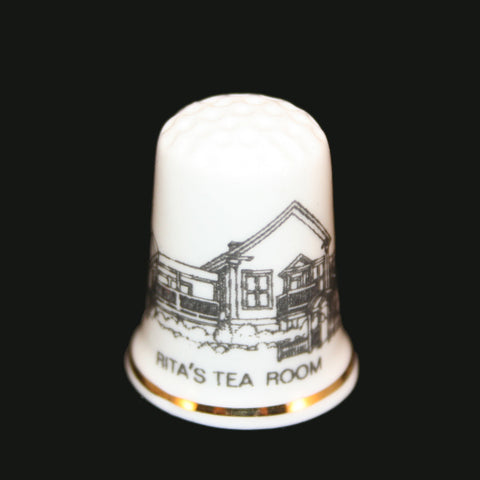 Rita's Tea Room Sewing Thimble