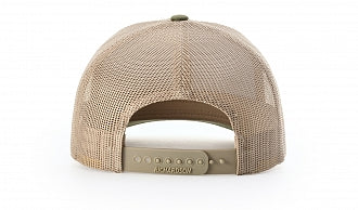 LPG Apparel Co. Crossed Gaff & Surfboard Heather Grey Amber Gold Snap Back Trucker Baseball Hat