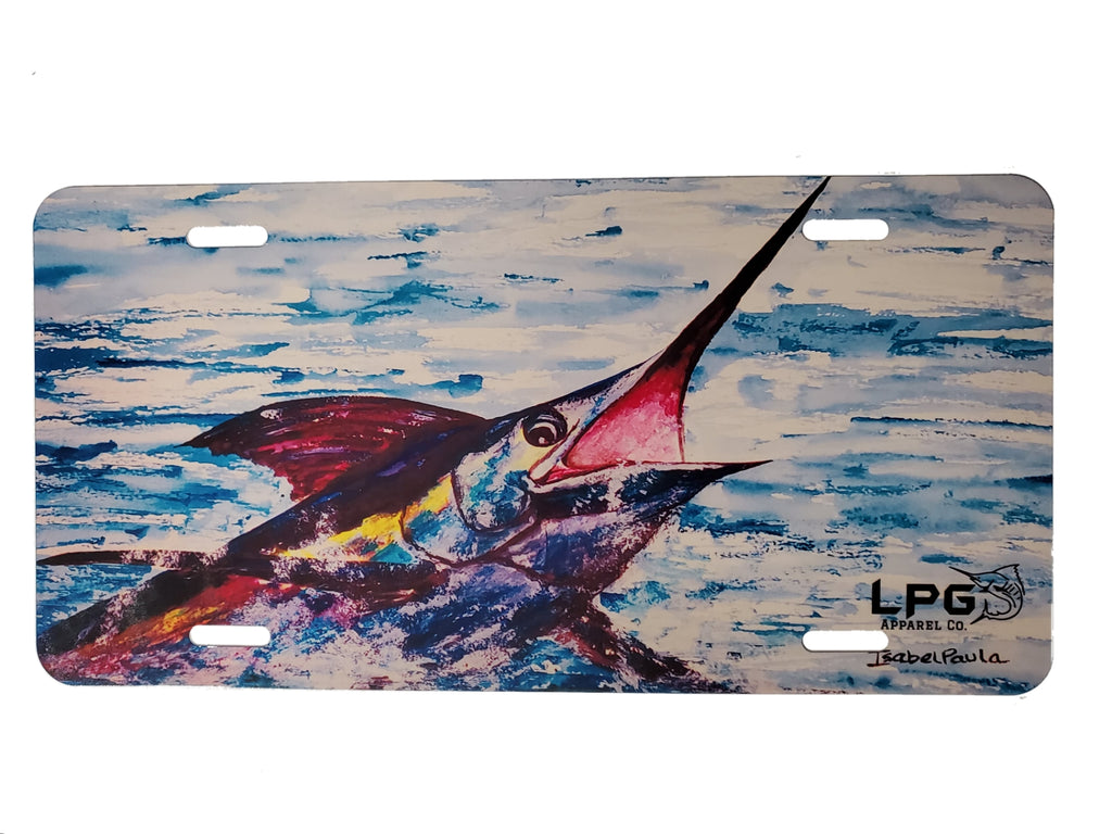 LPG Apparel Co. Isabel Paula Surface Breaker Novelty Metal Fishing  License Plate - Lobo Performance Gear