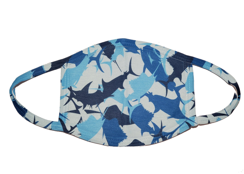 LPG Apparel Co. Billfish Camouflage PPE Face Mask Droplet protection, Fishing themed Face Mask, Fishing gift