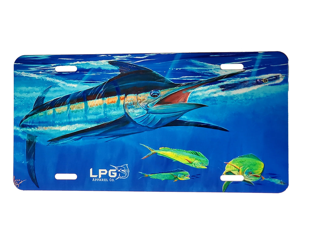LPG Apparel Co. Mark Ray Bill Buster Novelty Metal Fishing  License Plate - Lobo Performance Gear