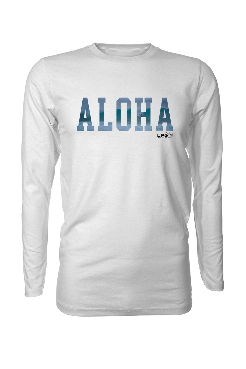 LPG Apparel Co. ALOHA Pipeline Surfer  Rashguard LS Performance UPF 50 Unisex T-Shirt - Lobo Performance Gear