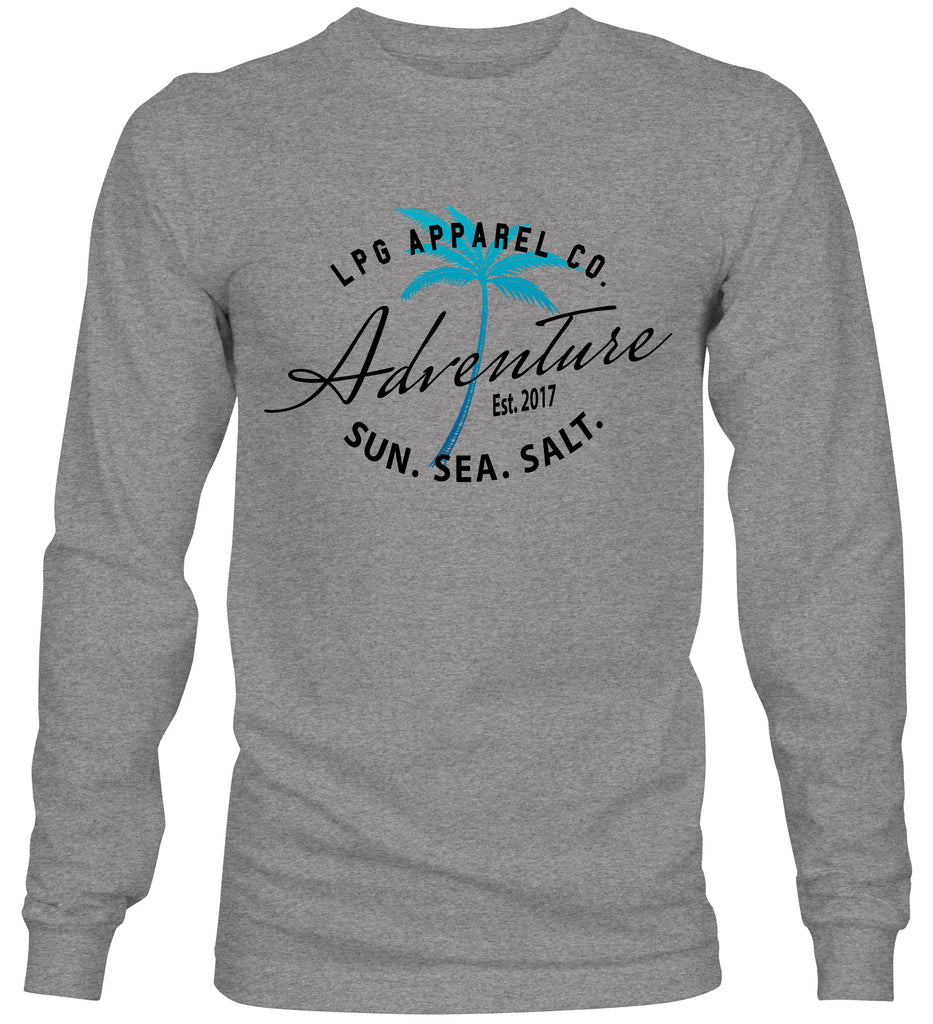 LPG Apparel Co. Adventure Palms Sun. Sea. Salt.  Crew Neck Sweater - Lobo Performance Gear
