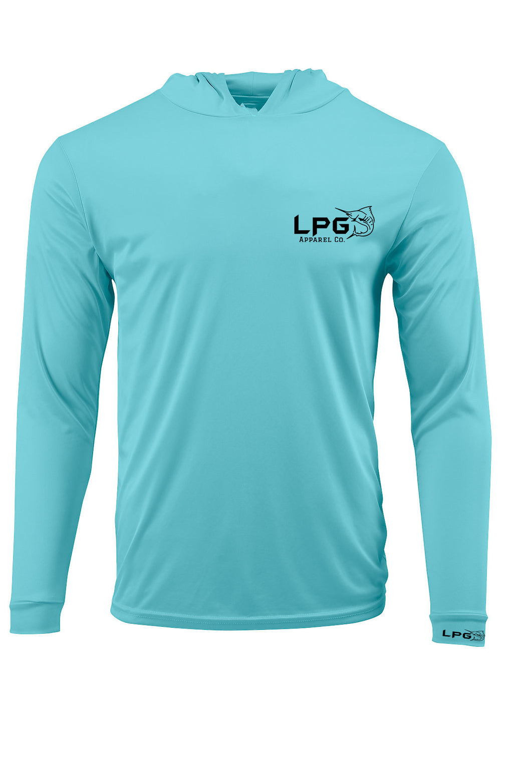 LPG Apparel Co. Performance Fishing Hoodie UPF 50+ Dri-Fit UV Protection Men & Women Long Sleeve T-Shirt - Lobo Performance Gear
