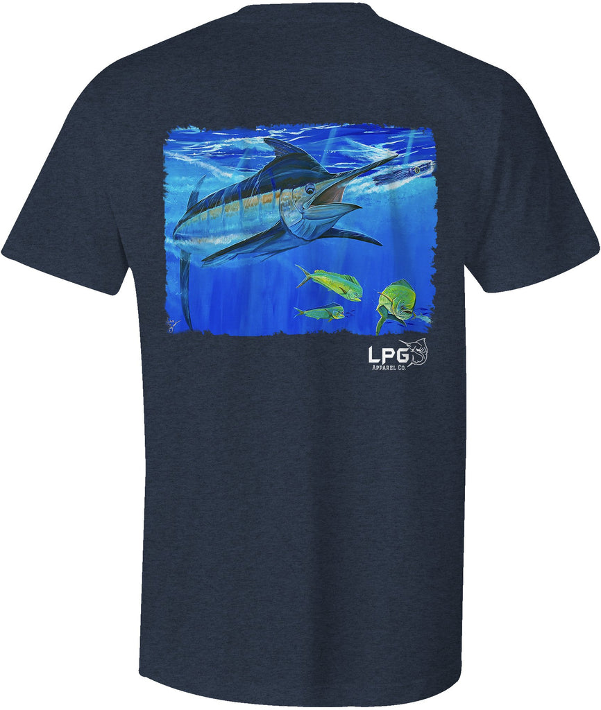 LPG Apparel Co. Blue Marlin Bill Buster by Mark Ray T-Shirt - Lobo Performance Gear