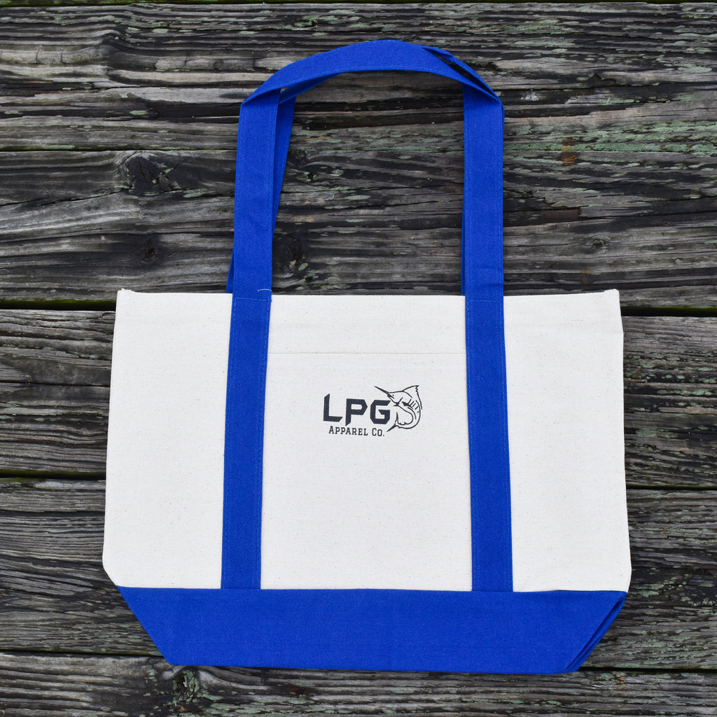 LPG Apparel Co. Heavy Duty Medium Natural Open Top Canvas Boat Tote Bag - Lobo Performance Gear