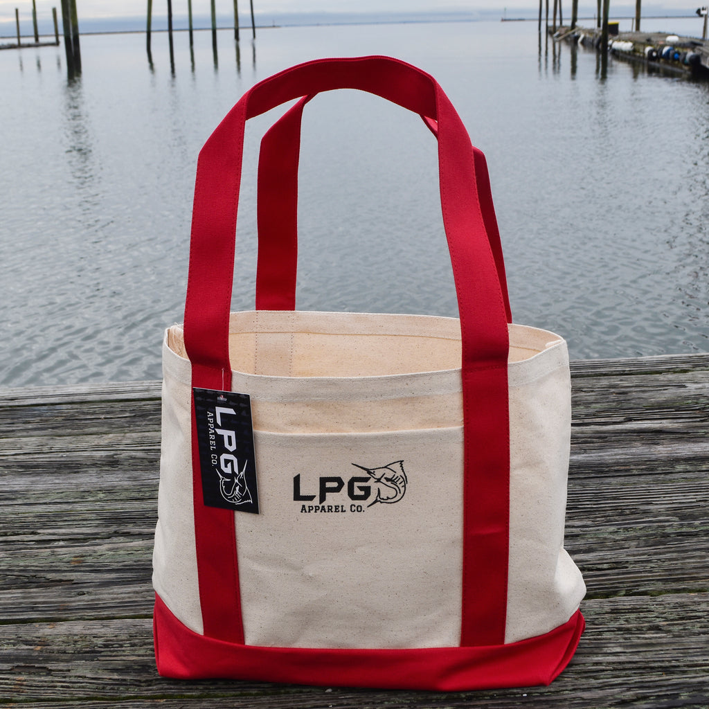 LPG Apparel Co. Heavy Duty Cotton Canvas Boat & Beach Tote - Lobo Performance Gear