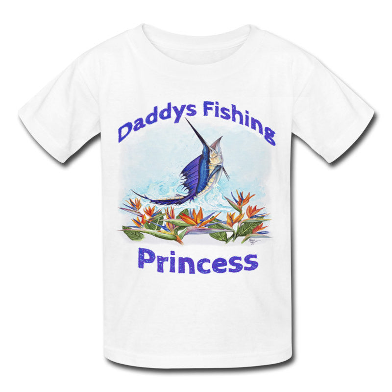 Toddlers Sailfish Daddy's Fishing Princess Shirt - Lobo Performance Gear