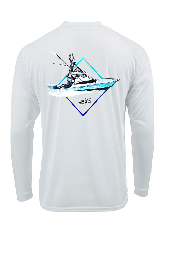 LPG Apparel Co. Diamond Sportfish LS Performance UPF 50+ T-Shirt - Lobo Performance Gear