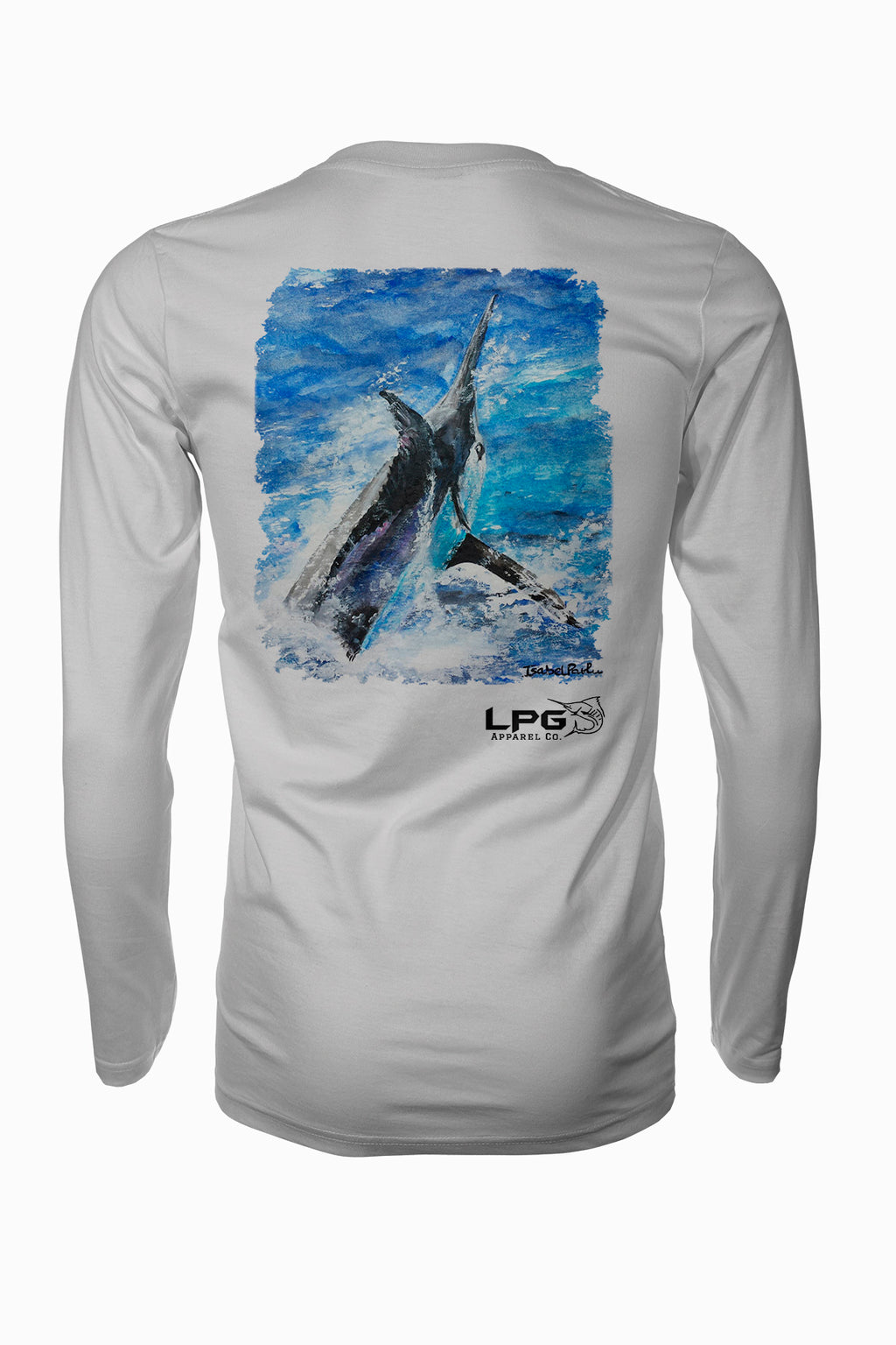 LPG Apparel Co. Marlin Grander Rash Guard LS Performance UPF 50+ Rashguard T-Shirt - Lobo Performance Gear