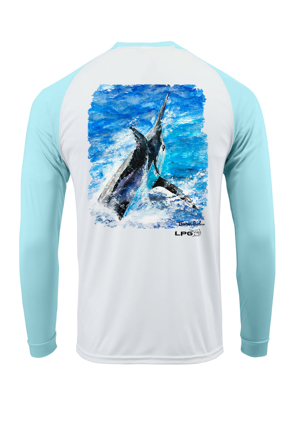 LPG Apparel Co. Grander Marlin Bahama Style Rashguard LS Performance UPF 50+ T-Shirt - Lobo Performance Gear
