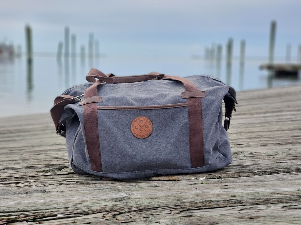 LPG Apparel Co. Captains Weekender Canvas Duffle , tournament Travel Bag, Fishing Luggage, Fishing Duffle, Fishing bag, Fishermen gift, Preppy Duffle