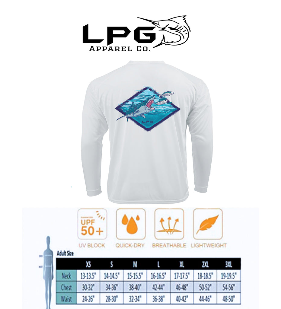 LPG Apparel Co. Northeast Mako LS Performance UPF 50+ T-Shirt