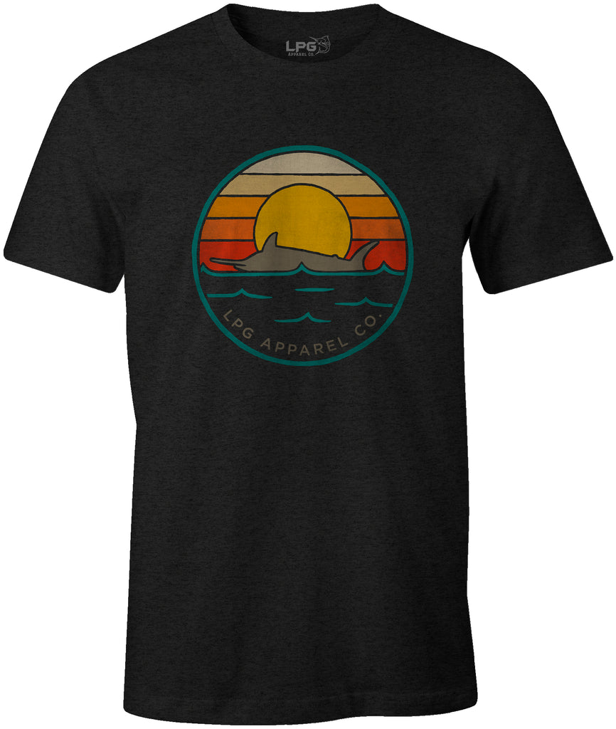 LPG Apparel Co. Retro Marlin Round Logo T-Shirt Fishing themed T-Shirt, Fishing Tee