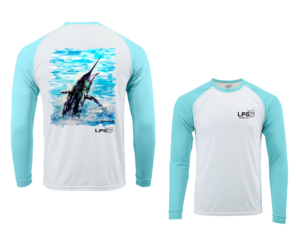 LPG Apparel Co. Pacific Fly Bahama Style Rashguard LS Performance UPF 50+ Unisex T-Shirt - Lobo Performance Gear