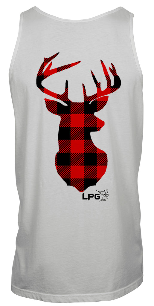 LPG Apparel Co. Buffalo Plaid Deer Tank - Lobo Performance Gear