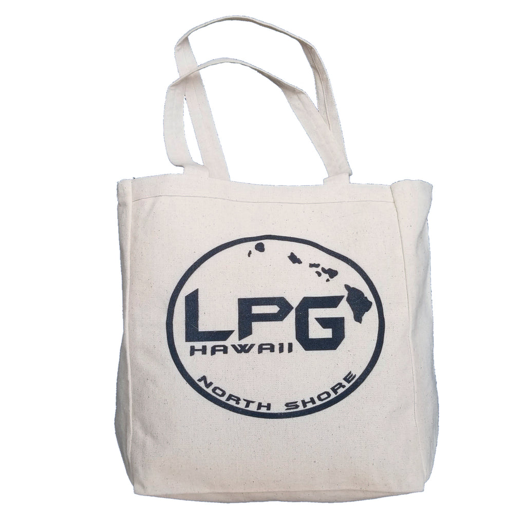 LPG Apparel Co. Hawaii North Shore Surf. Fish. Dive. Canvas Beach Tote - Lobo Performance Gear
