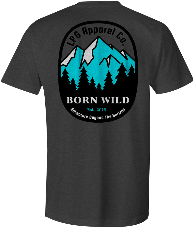 LPG Apparel Co. Born Wild  Mountaineer T-Shirt - Lobo Performance Gear