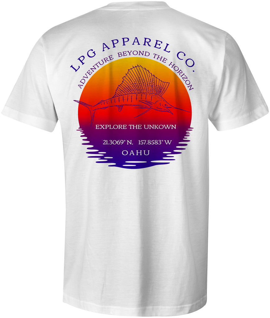LPG Apparel Co. Oahu Hawaii Sailfish Paradise T-Shirt - Lobo Performance Gear , Hawaii T-Shirt, Sailfish T-Shirt