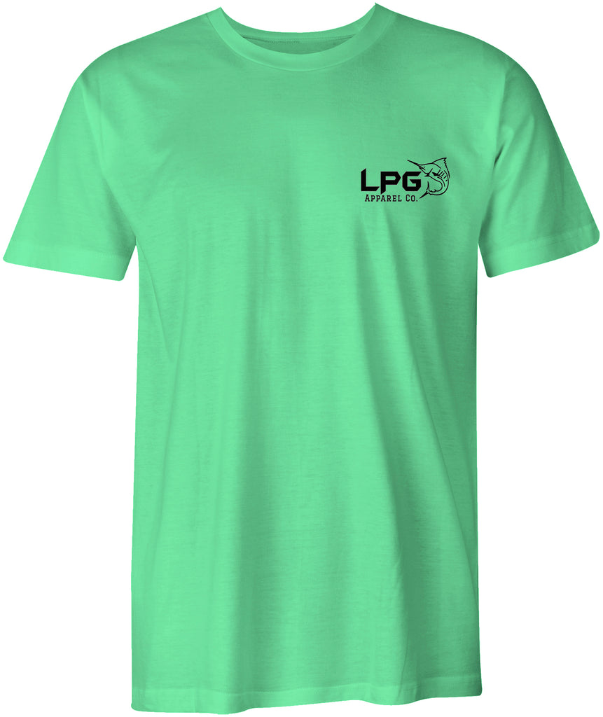 LPG Apparel Co. Floridian Redfish Tail Fishing T-Shirt - Lobo Performance Gear