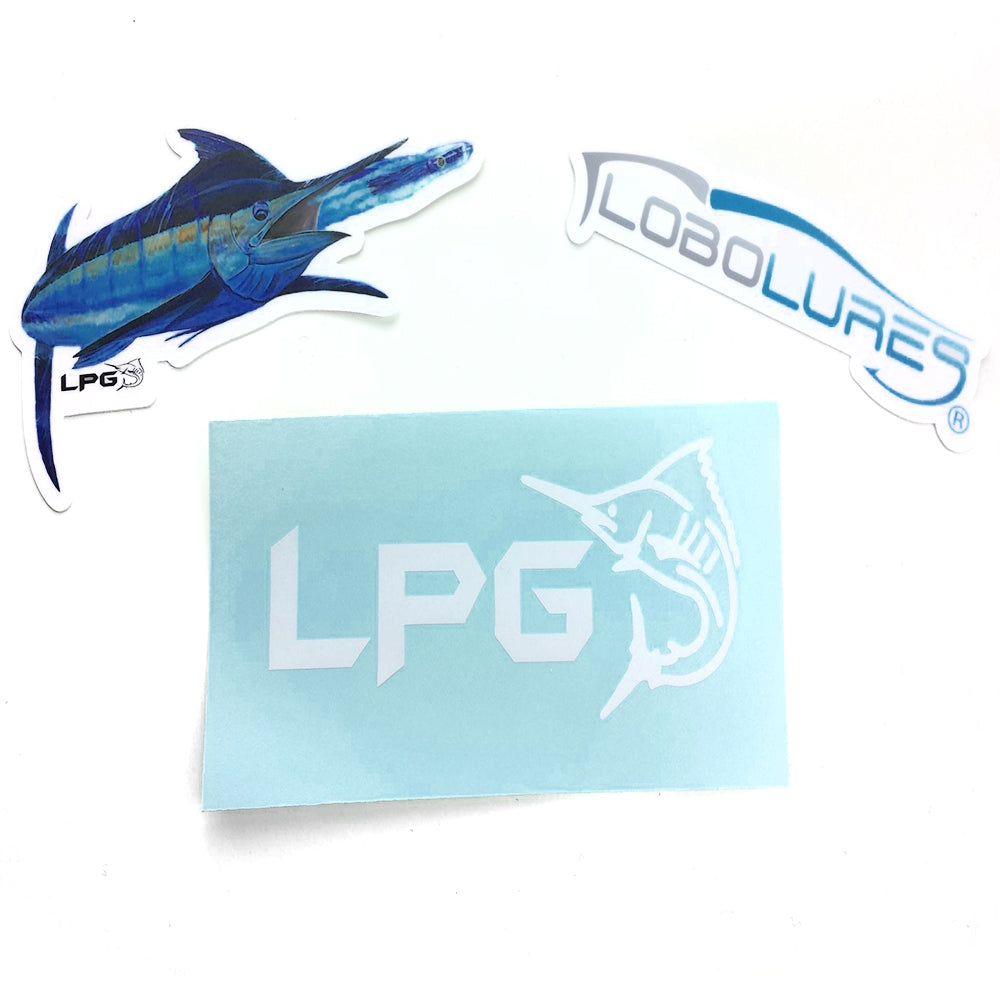 LPG Vinyl Sticker Pack - Lobo Performance Gear
