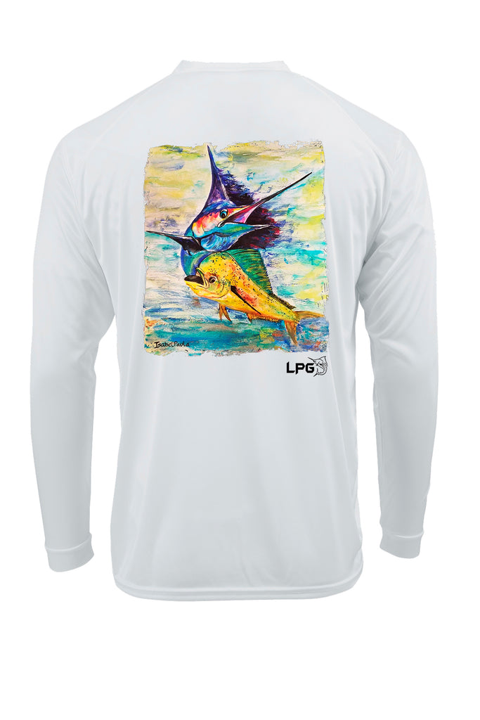 LPG Apparel Co. Mahi Sailfish LS Performance UPF 50+ Fishing T-Shirt