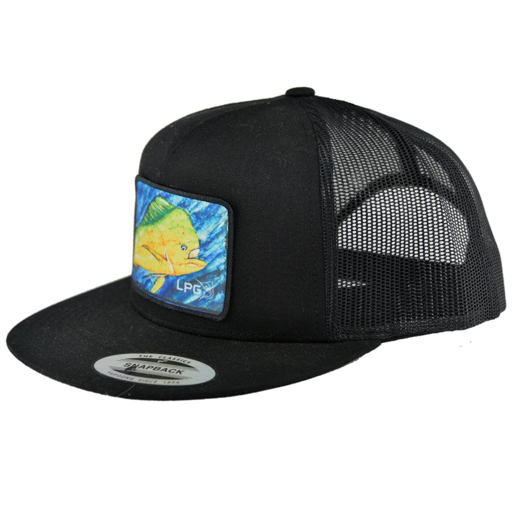 LPG Apparel Co. Flat Brim Mahi Vibes Trucker Patch Edition Snapback Hat - Lobo Performance Gear