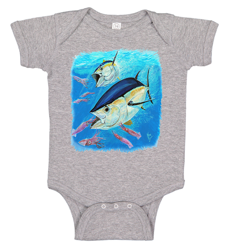 LPG Apparel Co. Mark Ray Yellowfin Tuna Infant One-piece Creeper - Lobo Performance Gear