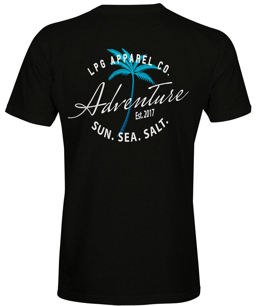 LPG Apparel Co. Adventure Palms Sun. Sea. Salt.  Surf T-Shirt - Lobo Performance Gear