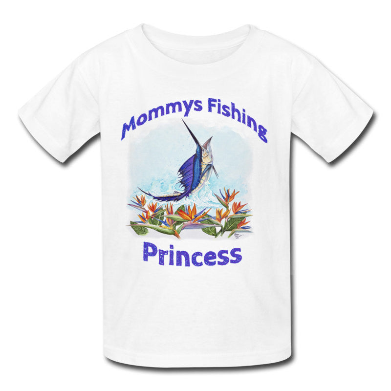 Toddlers Sailfish Mommys Fishing Princess Shirt - Lobo Performance Gear