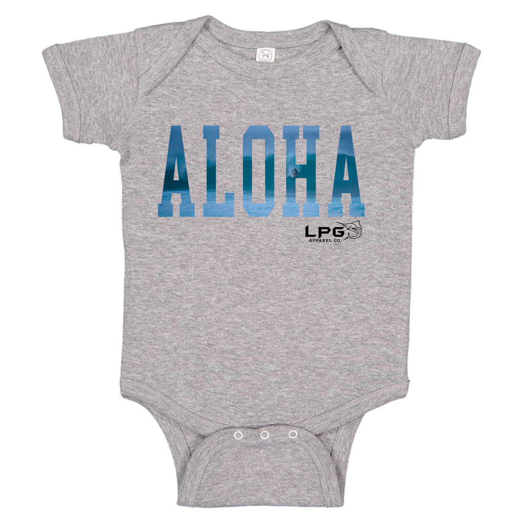 LPG Apparel Co. ALOHA Hawaii Vibes Surfer Baby One-piece Romper - Lobo Performance Gear