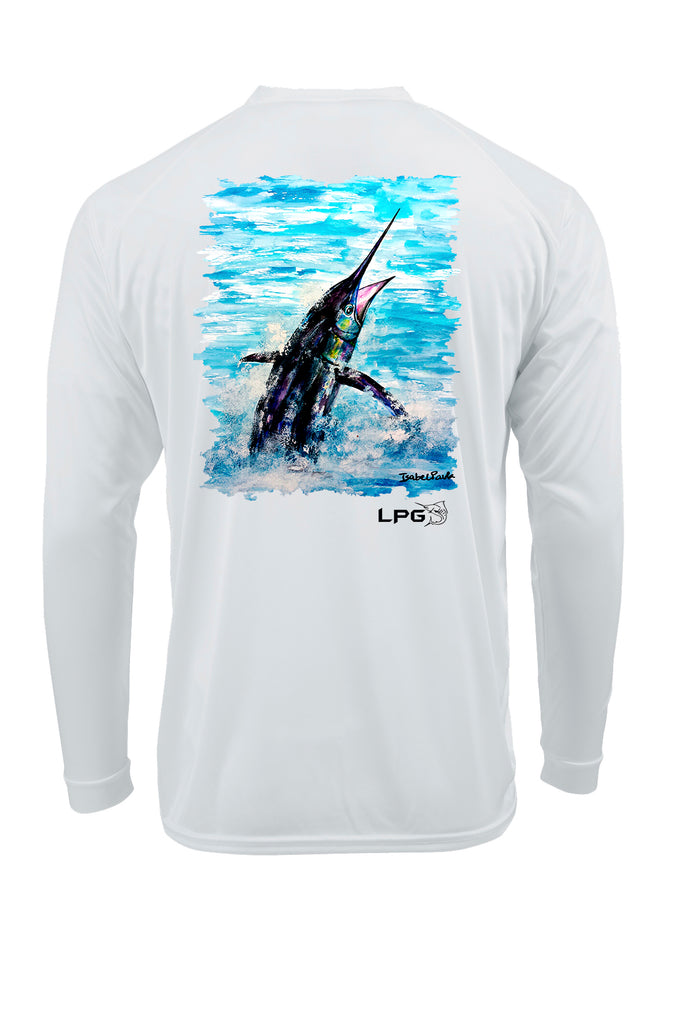 LPG Apparel Co. Pacific Fly Marlin LS Performance UPF 50+ T-Shirt